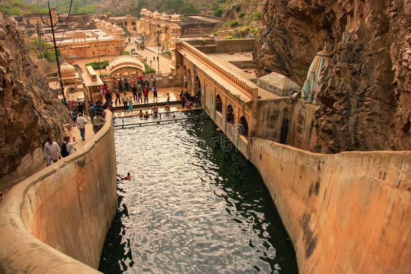 Galtaji Temple near Jaipur, Rajasthan, India. royalty free stock photography