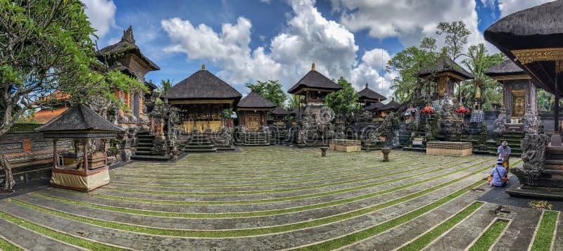 Architecture inside Ubud Palace, Ubud, Bali, Indonesia. Galungan 25 - 27 December 2018. Inside of Ubud Palace, Ubud tourist attraction, Bali, Indonesia. There stock image