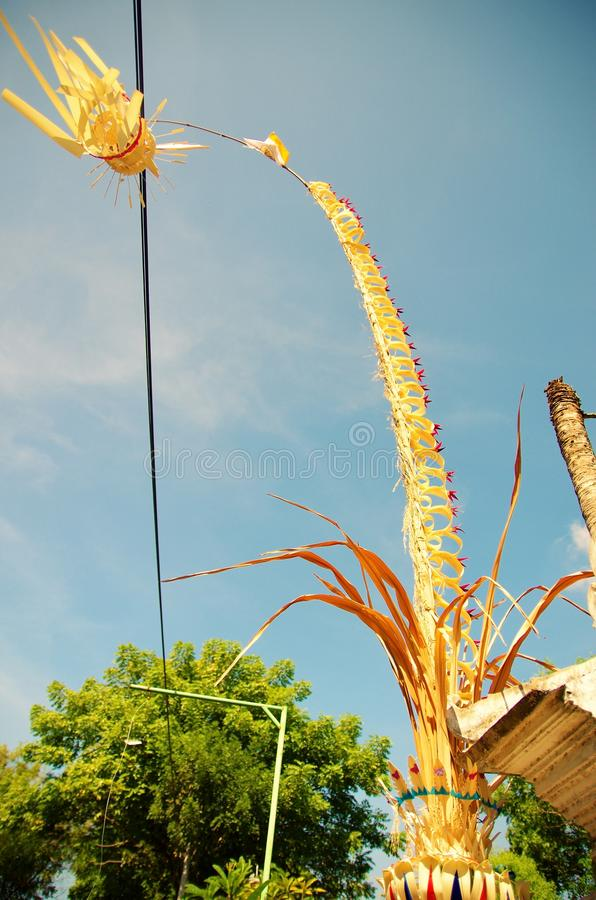 Galungan Kuningan świętowanie na Bali obrazy stock