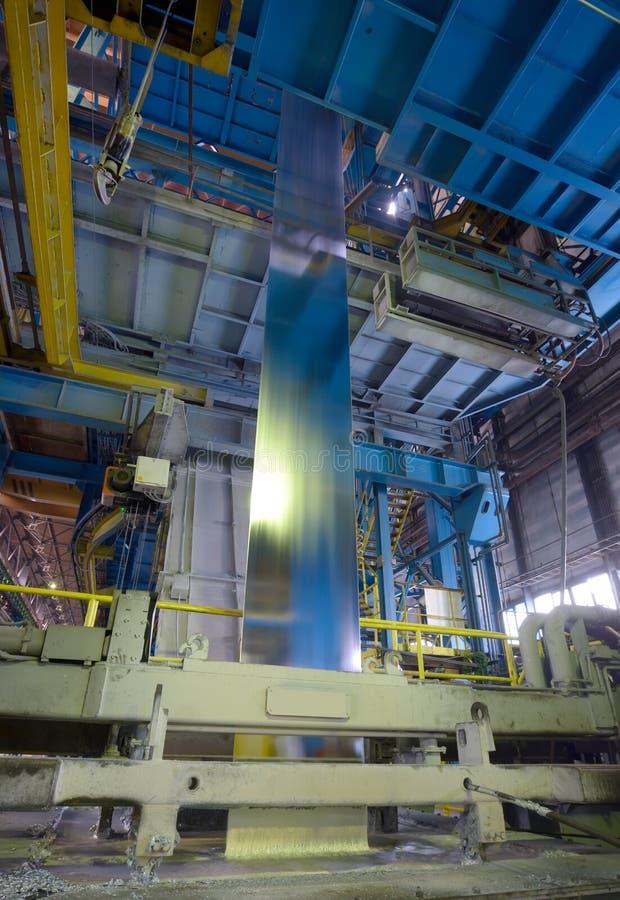Galvaniserende staalverwerking stock afbeelding