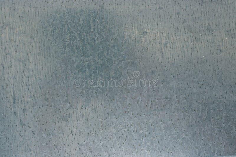 Galvanisierter Stahlplattenhintergrund - metallische rostfreie gewölbte Chrombeschaffenheit stockfotografie
