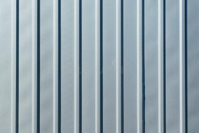 Galvanized sheet metal with longitudinal ribs. royalty free stock photos