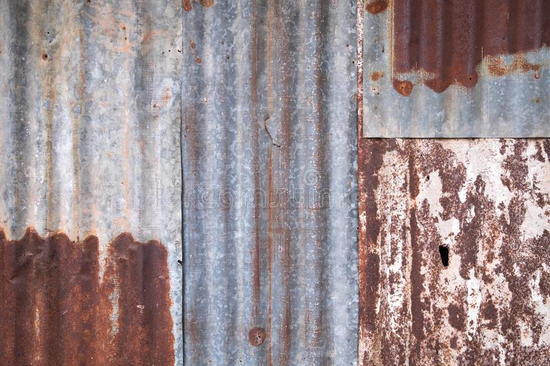 Galvanized steel sheet, rusted surface background. royalty free stock images