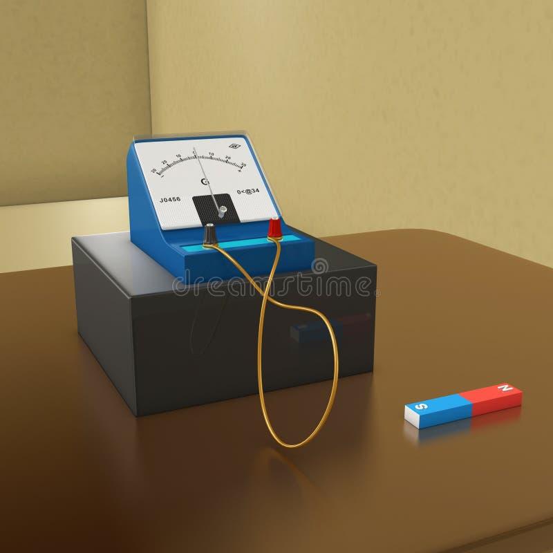 Download Galvanomètre illustration stock. Illustration du flux - 45367011