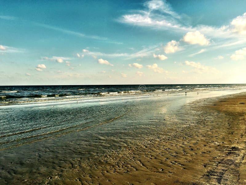 Galveston kust arkivbild