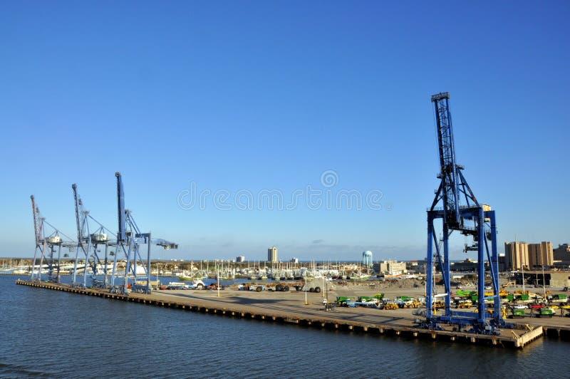 Galveston Port stock photography