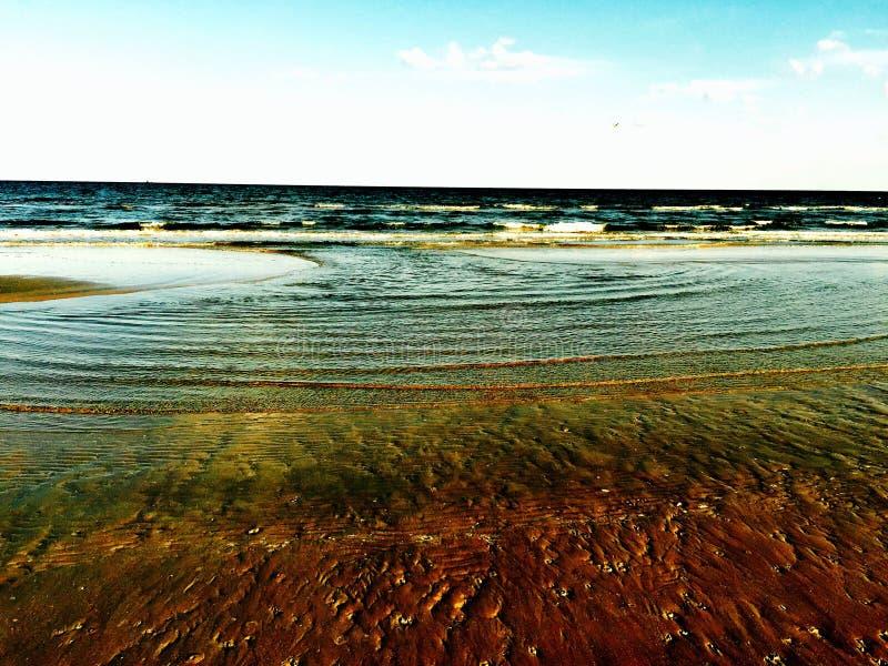 Galveston vatten royaltyfri fotografi