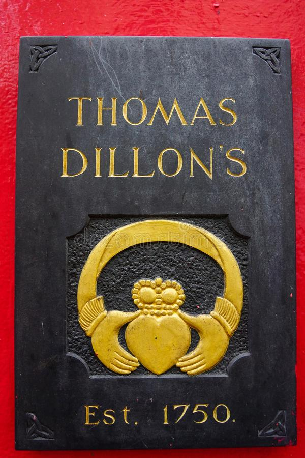 Galway, Ιρλανδία στις 10 Ιανουαρίου 2013 Thomas Dillon κατασκευαστές κοσμηματοπωλών του δαχτυλιδιού Claddagh Galway στοκ φωτογραφία