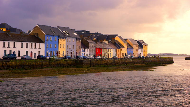 Galway city stock photo
