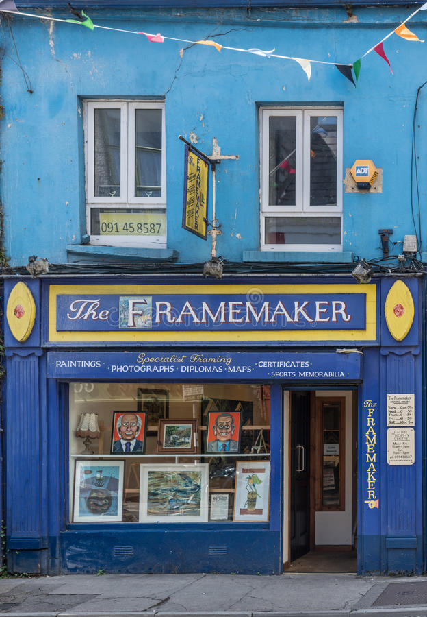 Facade Of Local Frame Maker In Galway, Ireland. Editorial Photo ...