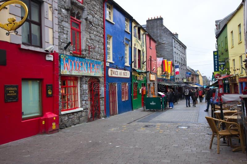 Galway stad Irland fotografering för bildbyråer