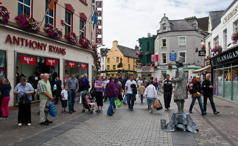 Download Galway main street editorial image. Image of town, county - 20759320