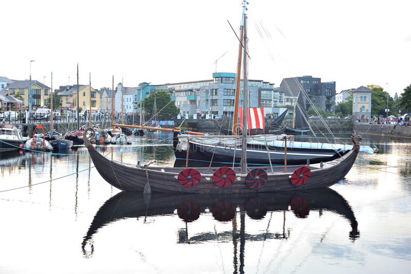 Galway Spanish Arch , Ireland June 2017,Claddagh Festival , Trad royalty free stock photos