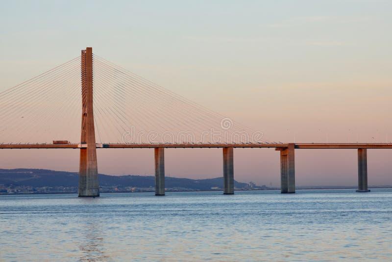 Gama του Vasco DA γέφυρα στοκ φωτογραφίες