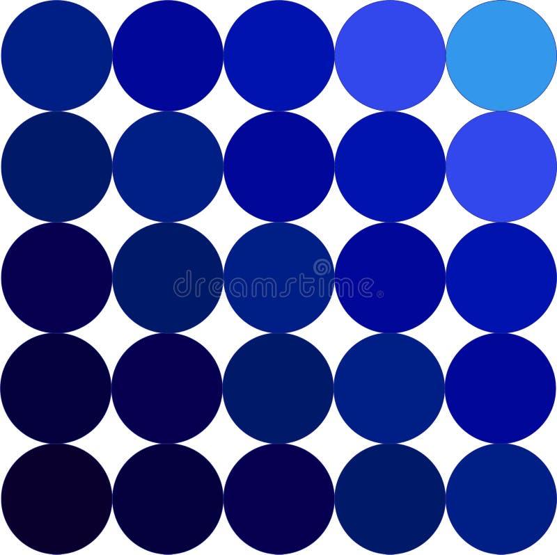 Gama de colores azul imagen de archivo