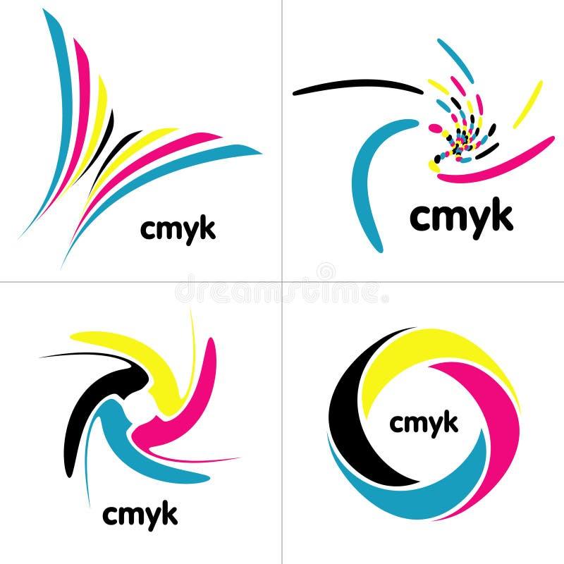 Gama de colores de Cmyk stock de ilustración