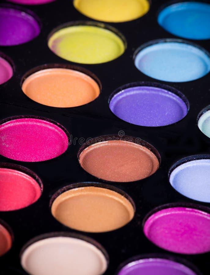 Gama de colores de las sombras de ojo coloridas fotos de archivo libres de regalías
