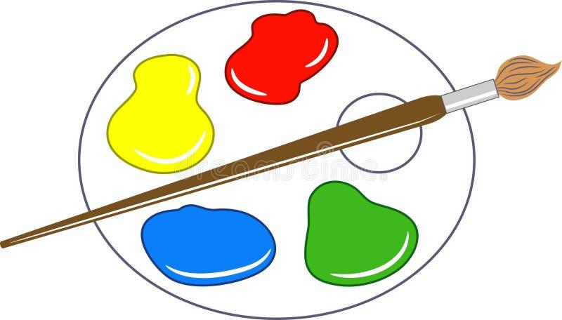 Gama de colores de los artistas ilustración del vector