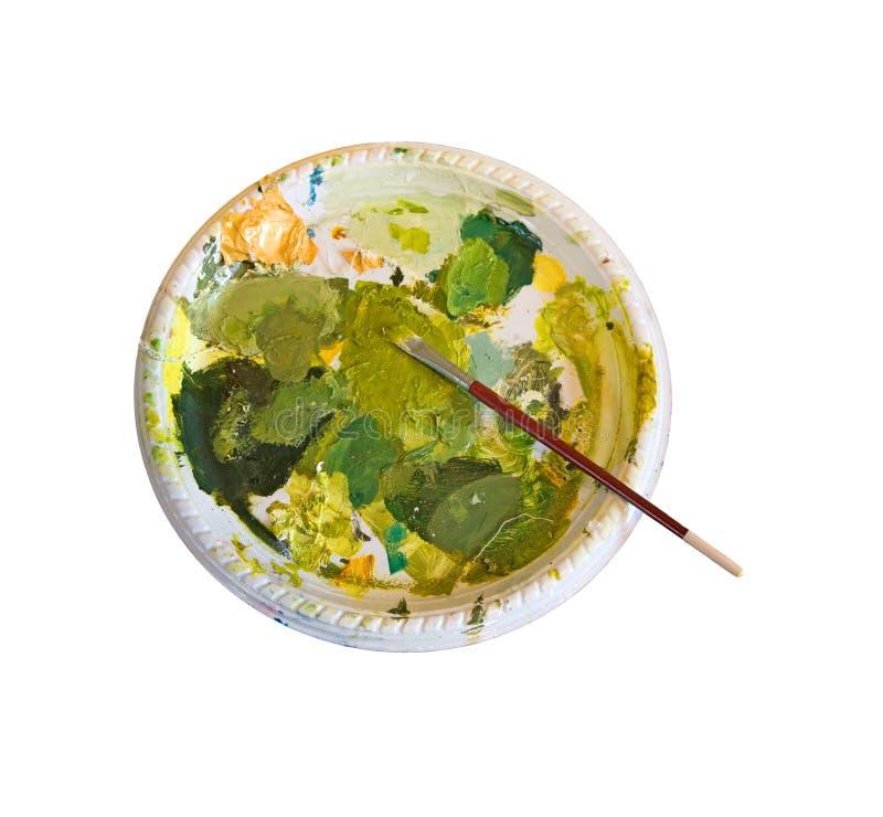 Gama de colores de pinturas verdes imagen de archivo - Gama de verdes ...