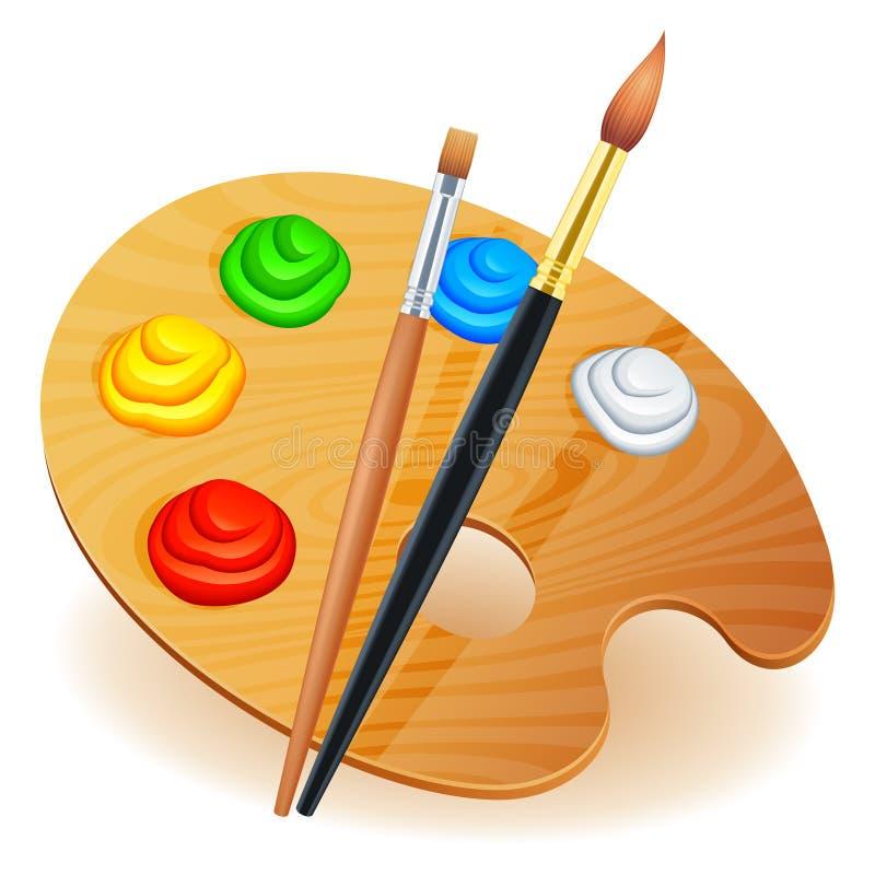Gama de colores del arte. ilustración del vector