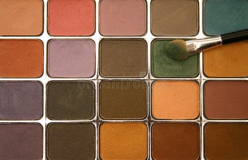 Gama de colores del sombreador de ojos foto de archivo