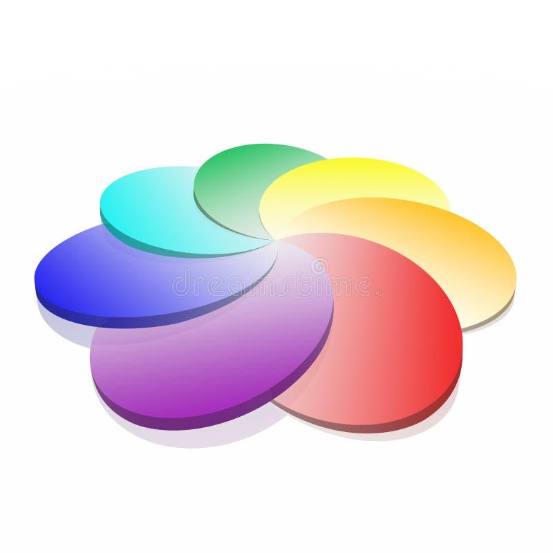 Gama de colores espiral fotos de archivo