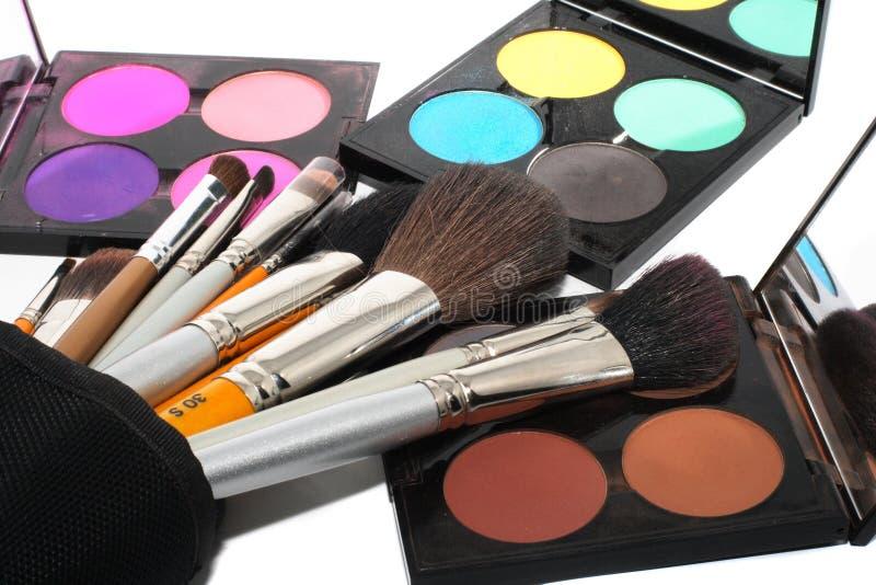 Gama de colores para el maquillaje imagenes de archivo
