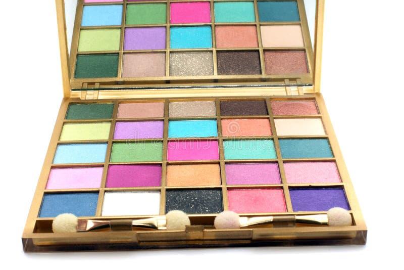 Gama de colores para el maquillaje imagen de archivo