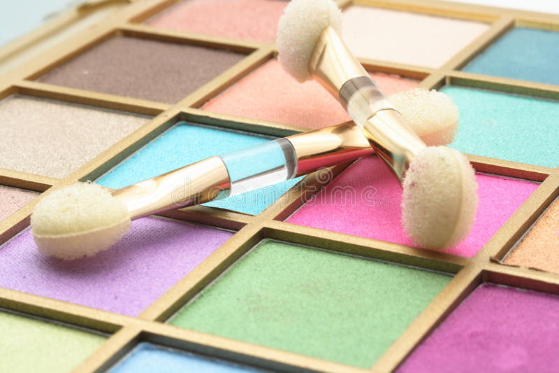 Gama de colores para el maquillaje fotos de archivo