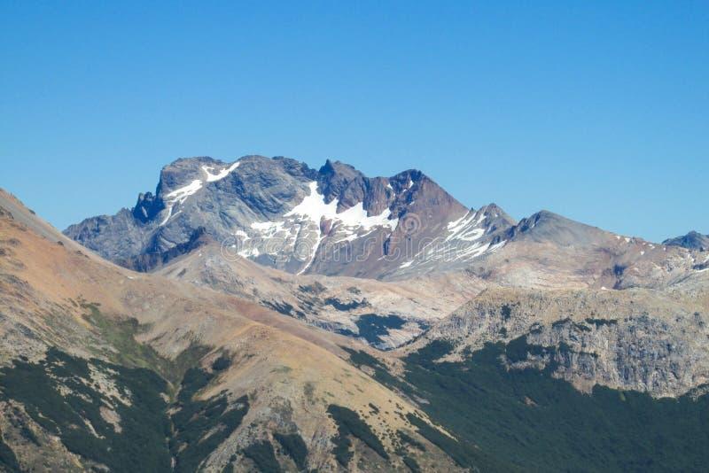 Gama, la Argentina y Chile centrales de los Andes fotos de archivo