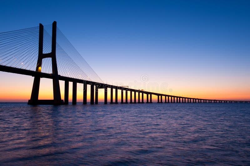 Gama Lisboa Portugal de Vasco DA del puente fotos de archivo