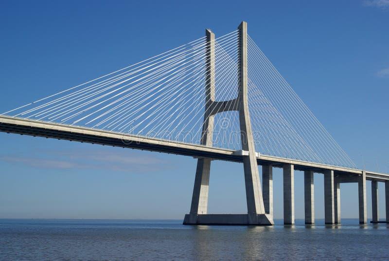 Gama van Vasco DA brug in Lissabon royalty-vrije stock foto's