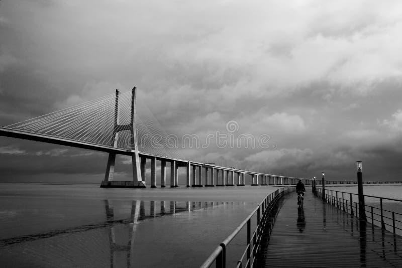 Gama van Vasco DA van de brug royalty-vrije stock foto's