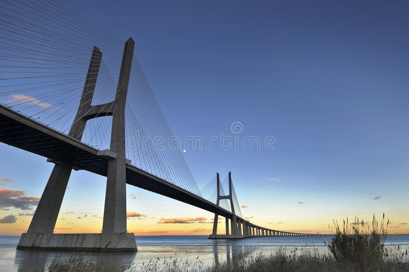 gama Vasco DA γεφυρών στοκ φωτογραφία