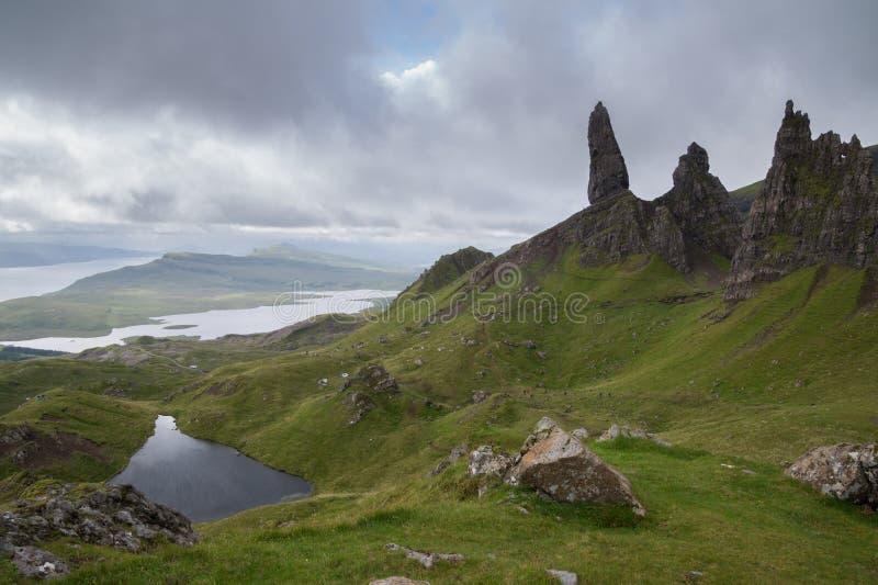 Gamal man av Storr, ö av Skye, Skottland fotografering för bildbyråer