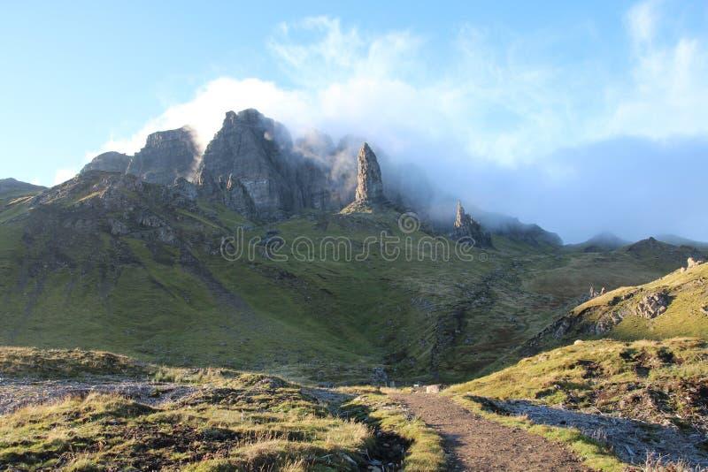 Gamal man av storr på ön av Skye royaltyfri foto