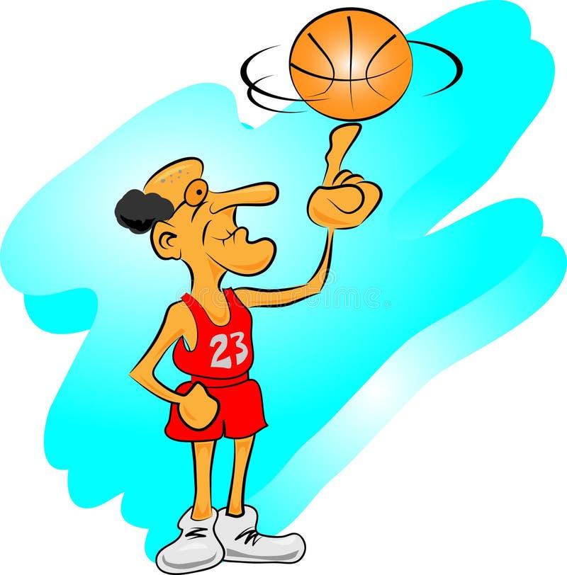 Gamal man som spelar med basket vektor illustrationer