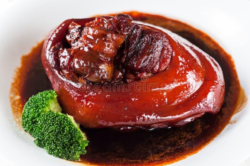 Gamba brasata della carne di maiale fotografie stock libere da diritti