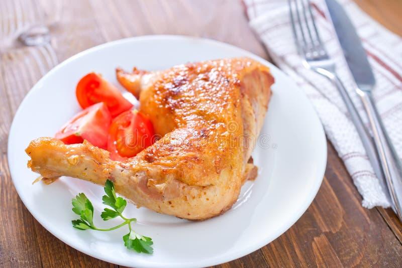 Gamba di pollo fritto fotografia stock libera da diritti