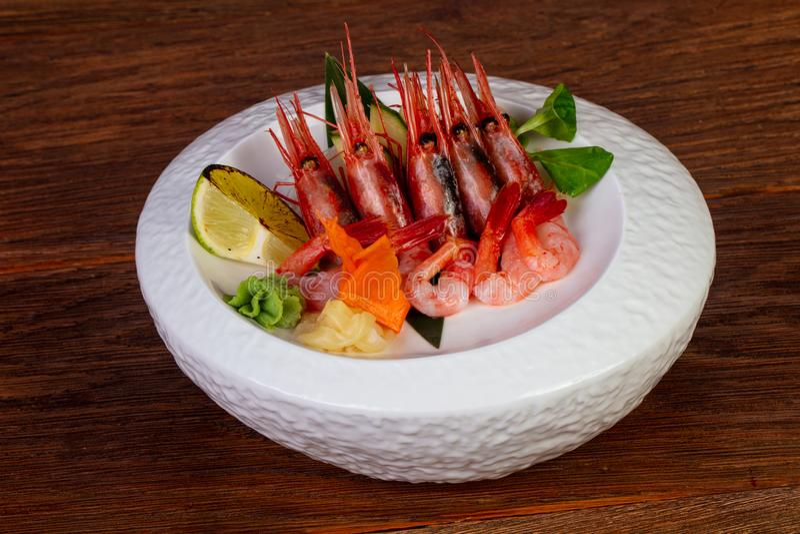 Gamba japonesa del sashimi fotos de archivo libres de regalías