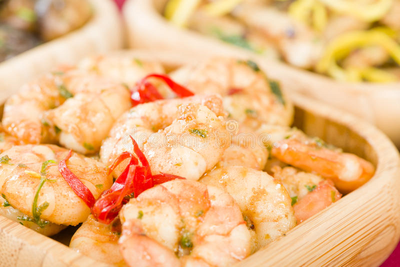 Download Gambas Pil Pil stock image. Image of appetizer, beach - 37744083