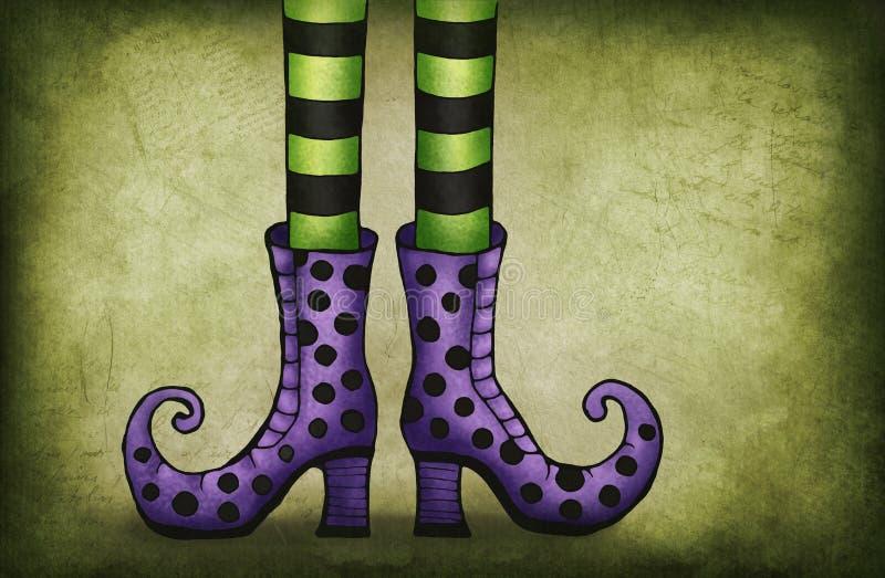 Gambe della strega illustrazione vettoriale