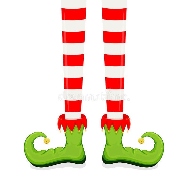 Gambe di Elf in scarpe illustrazione vettoriale