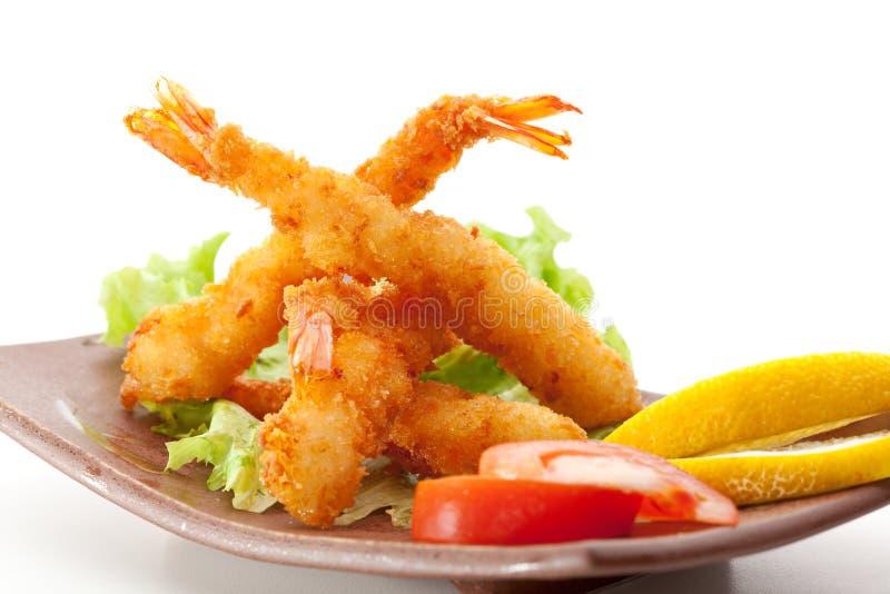 Gamberetti della tempura immagine stock