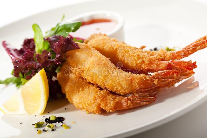 Gamberetti della tempura fotografia stock libera da diritti