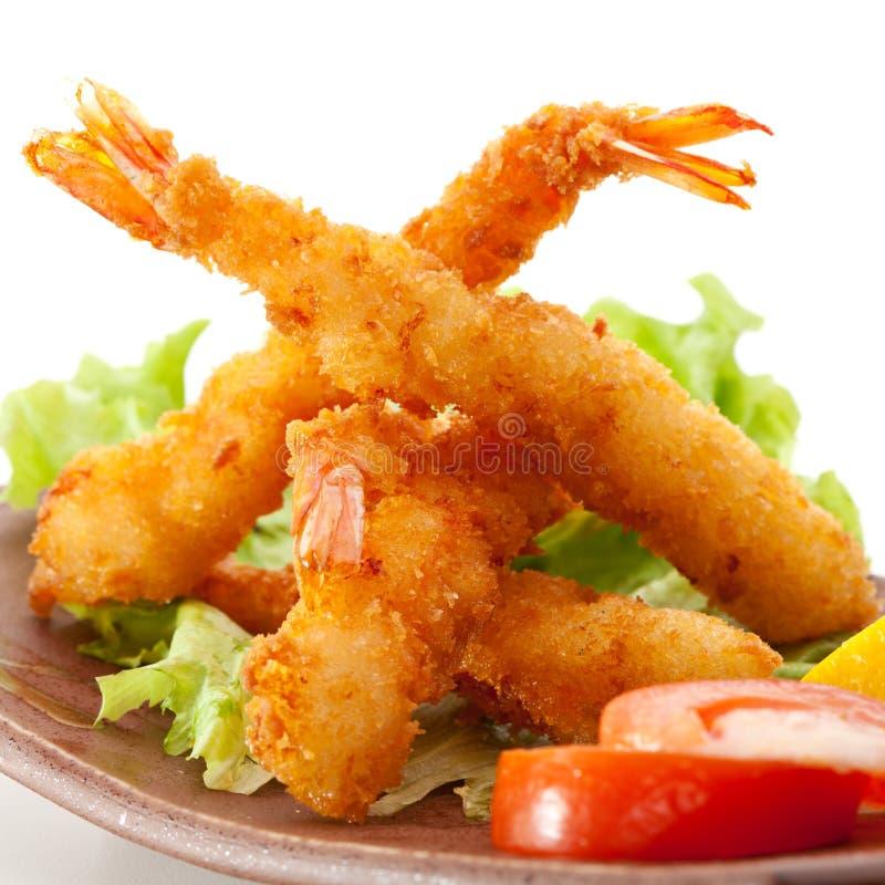 Gamberetti della tempura immagini stock