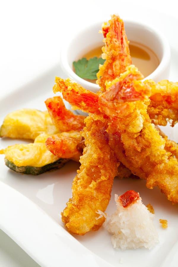 Gamberetti della tempura fotografie stock