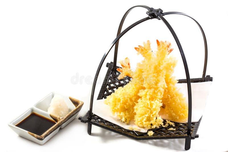 Gamberetti della tempura immagini stock libere da diritti