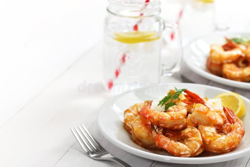 Gamberetto dell'aglio, alimento hawaiano fotografia stock