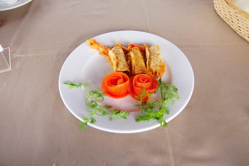 Gamberetto fritto croccante immagine stock